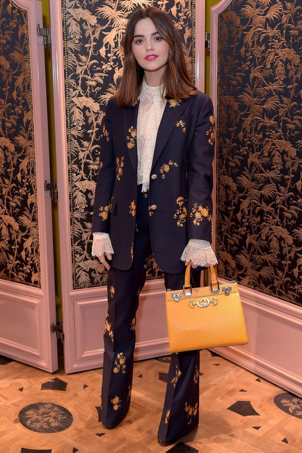 Celebrities wearing trouser suits