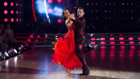 Jenna Johnson and Adam Rippon on Dancing With The Stars