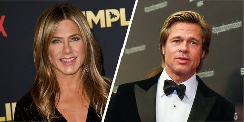 13f6150b69fa Let's not overreact, but Brad Pitt turned up to Jennifer Aniston's 50th  birthday party
