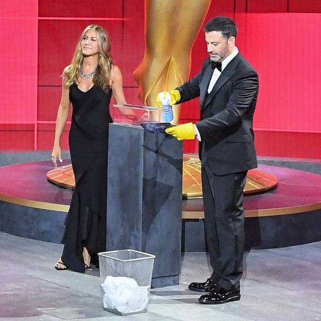the 72nd emmy® awards   hosted by jimmy kimmel, the 72nd emmy® awards will broadcast sunday, sept 20 800 pm edt600 pm mdt500 pm pdt, on abc abcimage group lajennifer aniston, jimmy kimmel