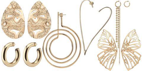 Jewellery, Fashion accessory, Body jewelry, Metal, Ear, Ornament, Earrings,