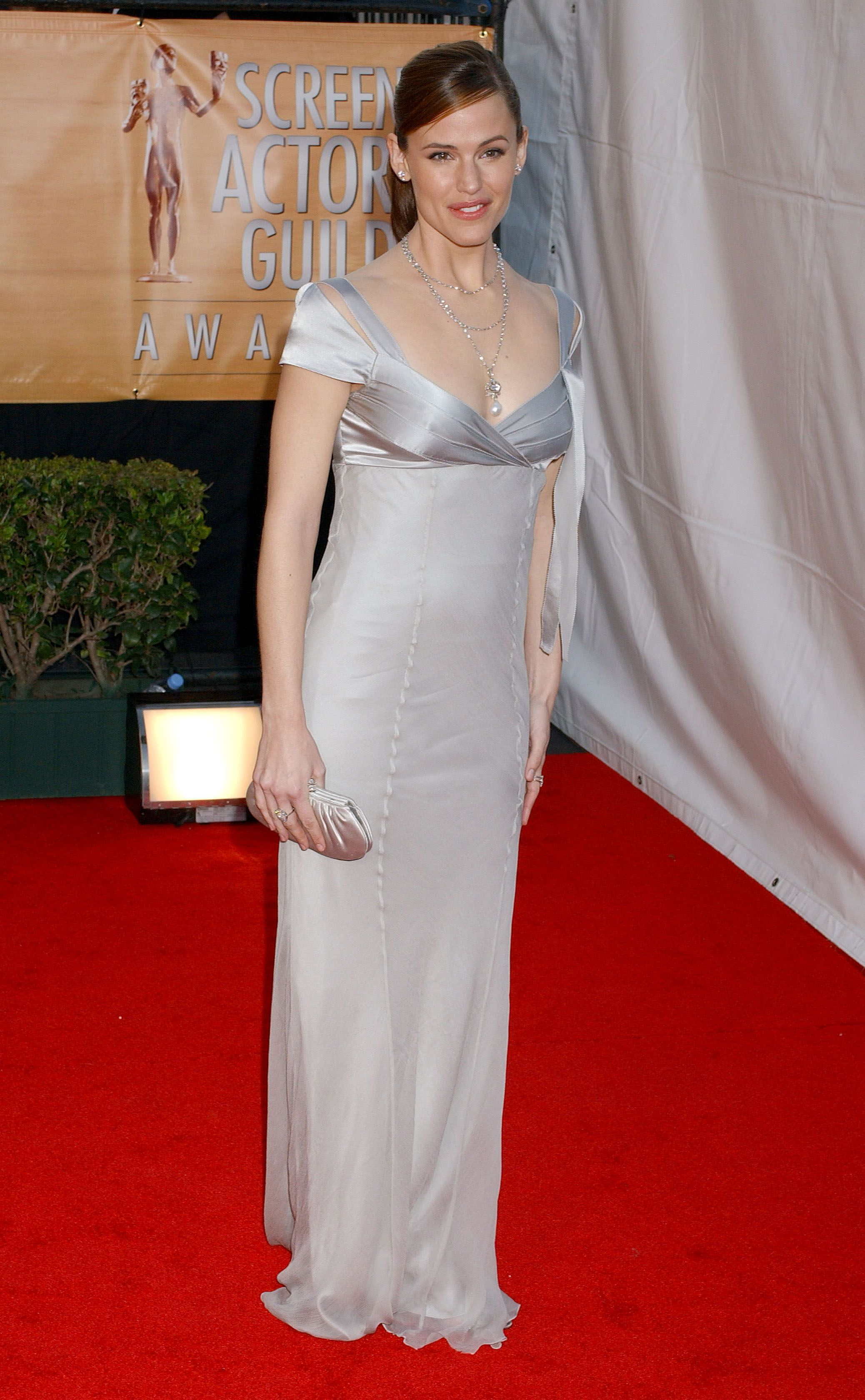 February 5, 2005 Gracing the red carpet in a silver column gown at the 11th annual Screen Actors Guild Awards in Los Angeles.
