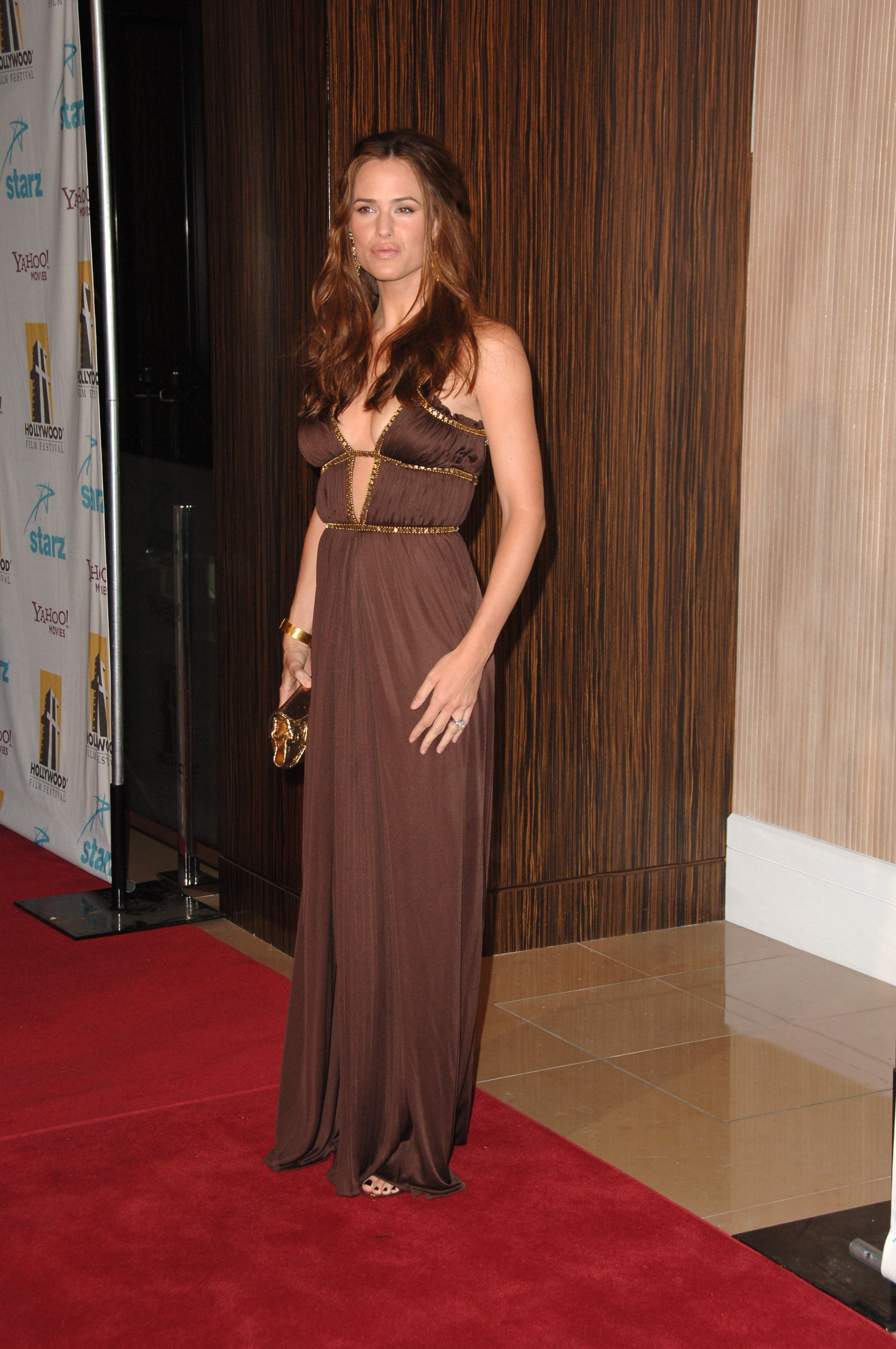 October 23, 2006 In a brown gown at the 10th annual Hollywood Film Festival in Beverly Hills.