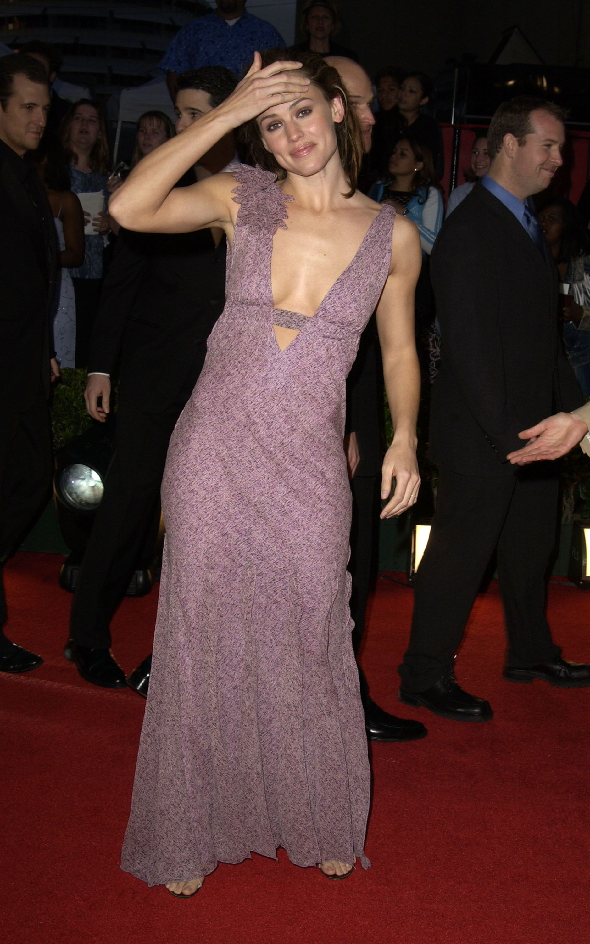 March 16, 2003 In a lilac dress at ABC's 50th Anniversary Celebration.