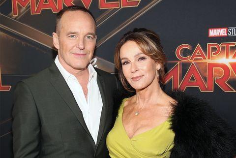 Actors Clark Gregg and Jennifer Gray attend Los Angeles World Premiere at Marvel Studio's