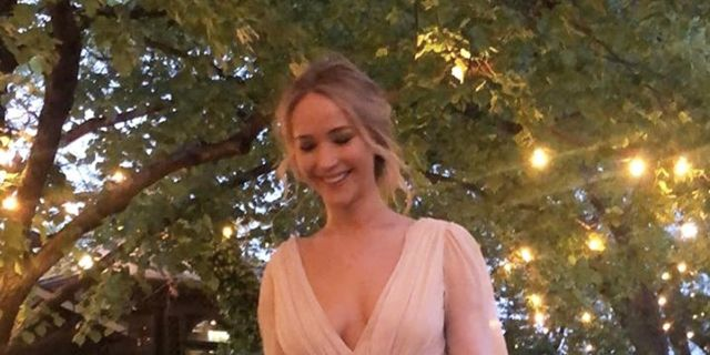 Jennifer Lawrence Celebrates Her Engagement Party in a Dress Fit for a Princess