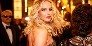 Jennifer Lawrence tijdens Oscars 2020