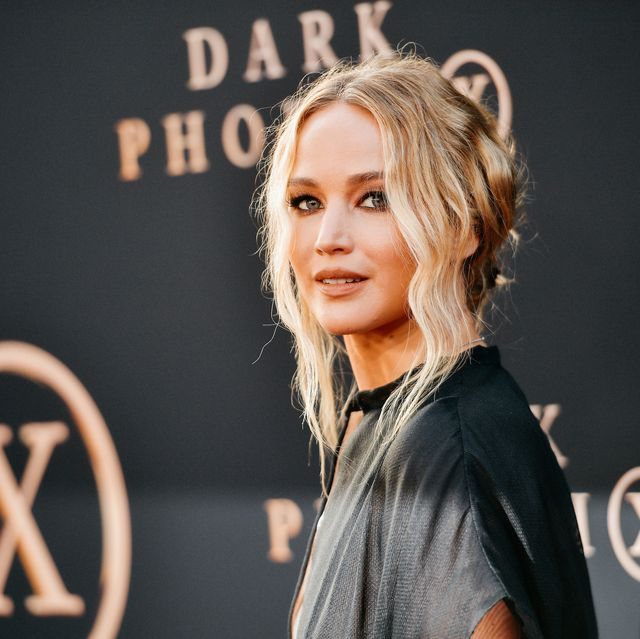 """hollywood, california   june 04 editors note image has been processed using digital filters jennifer lawrence attends the premiere of 20th century fox's """"dark phoenix"""" at tcl chinese theatre on june 04, 2019 in hollywood, california photo by matt winkelmeyergetty images"""