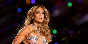 Jennifer Lopez en la final de la Super Bowl 2020