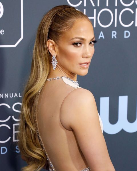 santa monica, california   january 12 jennifer lopez attends the 25th annual critics choice awards at barker hangar on january 12, 2020 in santa monica, california photo by taylor hillgetty images