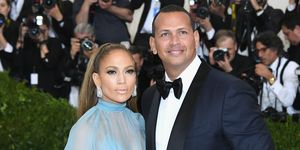 Jennifer Lopez and Alex Rodriguez at the 2017 Met Gala