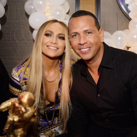 Jennifer Lopez and Alex Rodriguez at MTV VMA's Vanguard Award Celebration At Beauty & Essex In NY