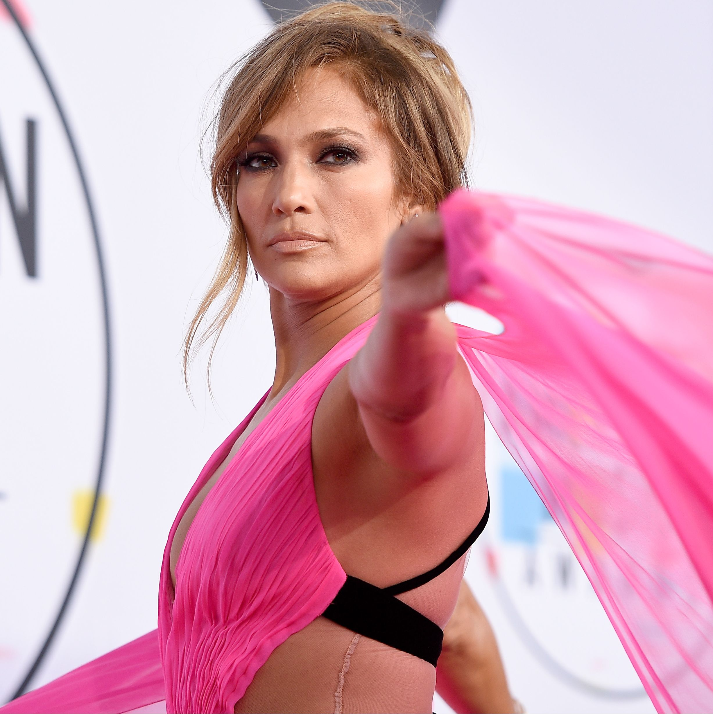 J.Lo Just Blessed Us All With This Sexy Hot-Pink Cutout Lewk and We'll Never Be the Same