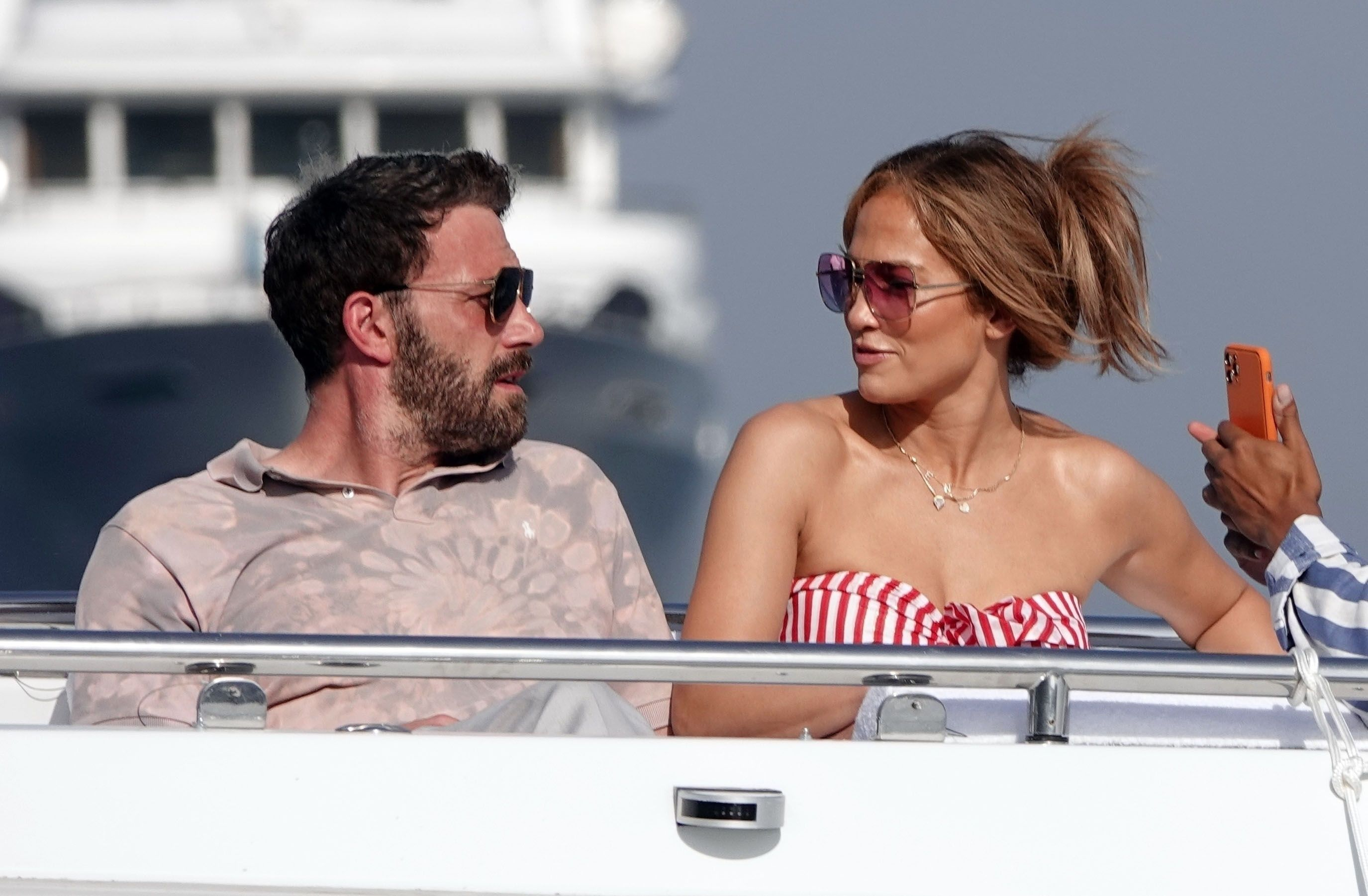 Jennifer Lopez and Ben Affleck Wore Peak Summer Outfits on a Yacht in Italy
