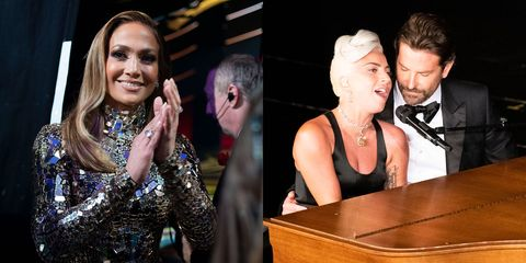 Jennifer Lopez and Bradley Cooper and Lady Gaga