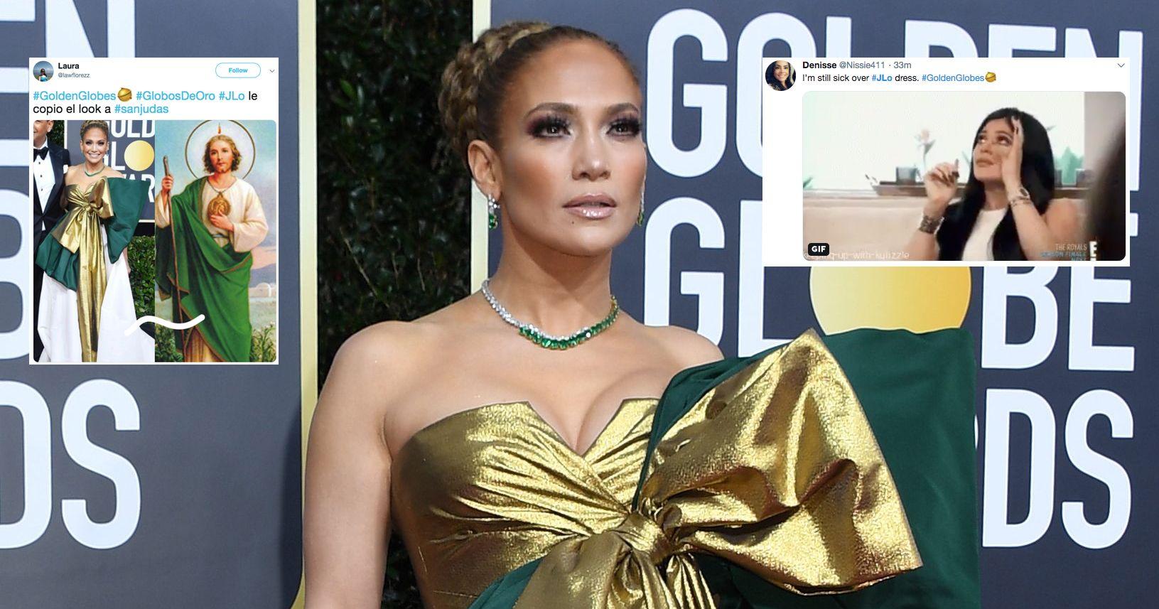 Best Twitter Reactions To Jennifer Lopez Golden Globes Dress