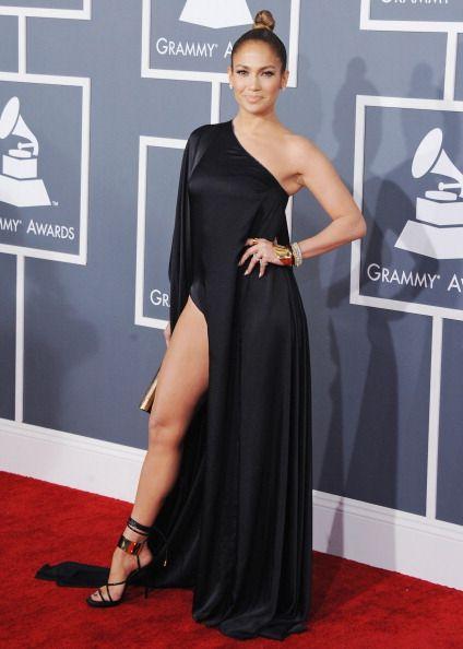Jennifer Lopez Grammys 2017 Black Dress
