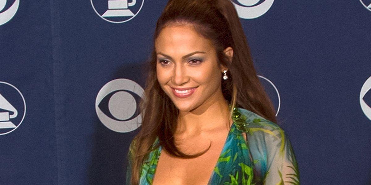 ba9d3254fa2 Versace just recreated Jennifer Lopez s famous green Grammy dress – Versace  pre-autumn winter 2019