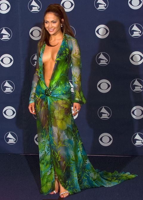 249129fa489d Versace just recreated Jennifer Lopez s famous green Grammy dress ...