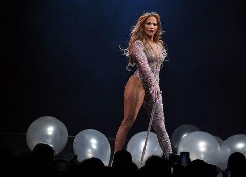 Jennifer Lopez en concierto en Las Vegas.