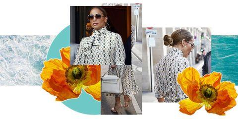 Yellow, Orange, Clothing, Flower, Plant, Dress, Style, Fashion accessory, Wildflower, Blouse,