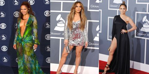 all of jennifer lopez grammy dresses throughout the years