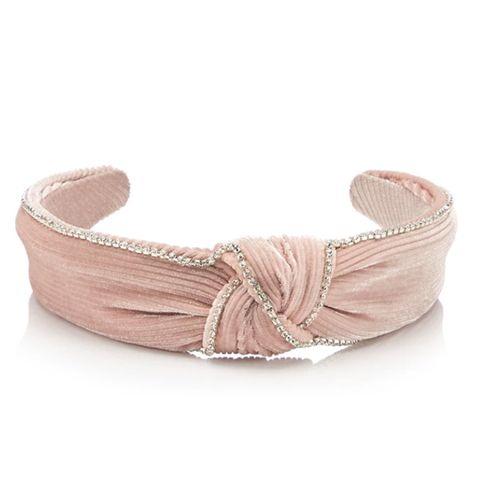 No. 1 Jenny Packham-Pink Diamante Velvet Headband