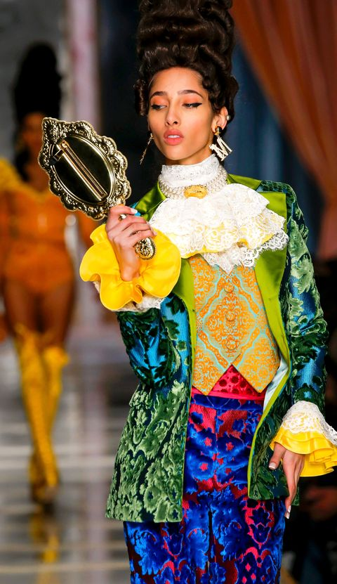 a look from moschino fall 2020