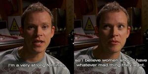 Jeremy in Peep Show talking about feminism