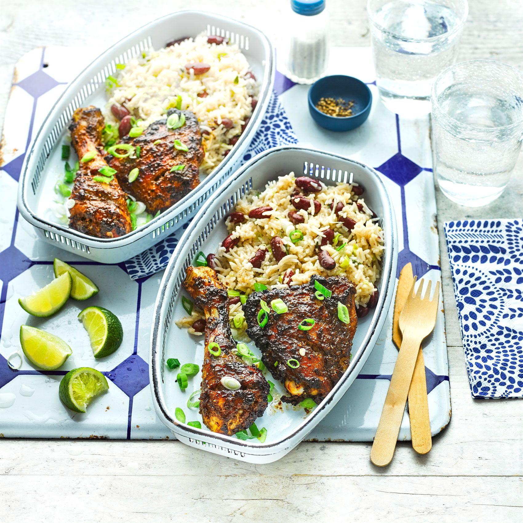 Jerk Chicken With Rice And Beans Recipe