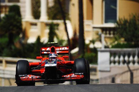 F1モナコグランプリを走るfiカー