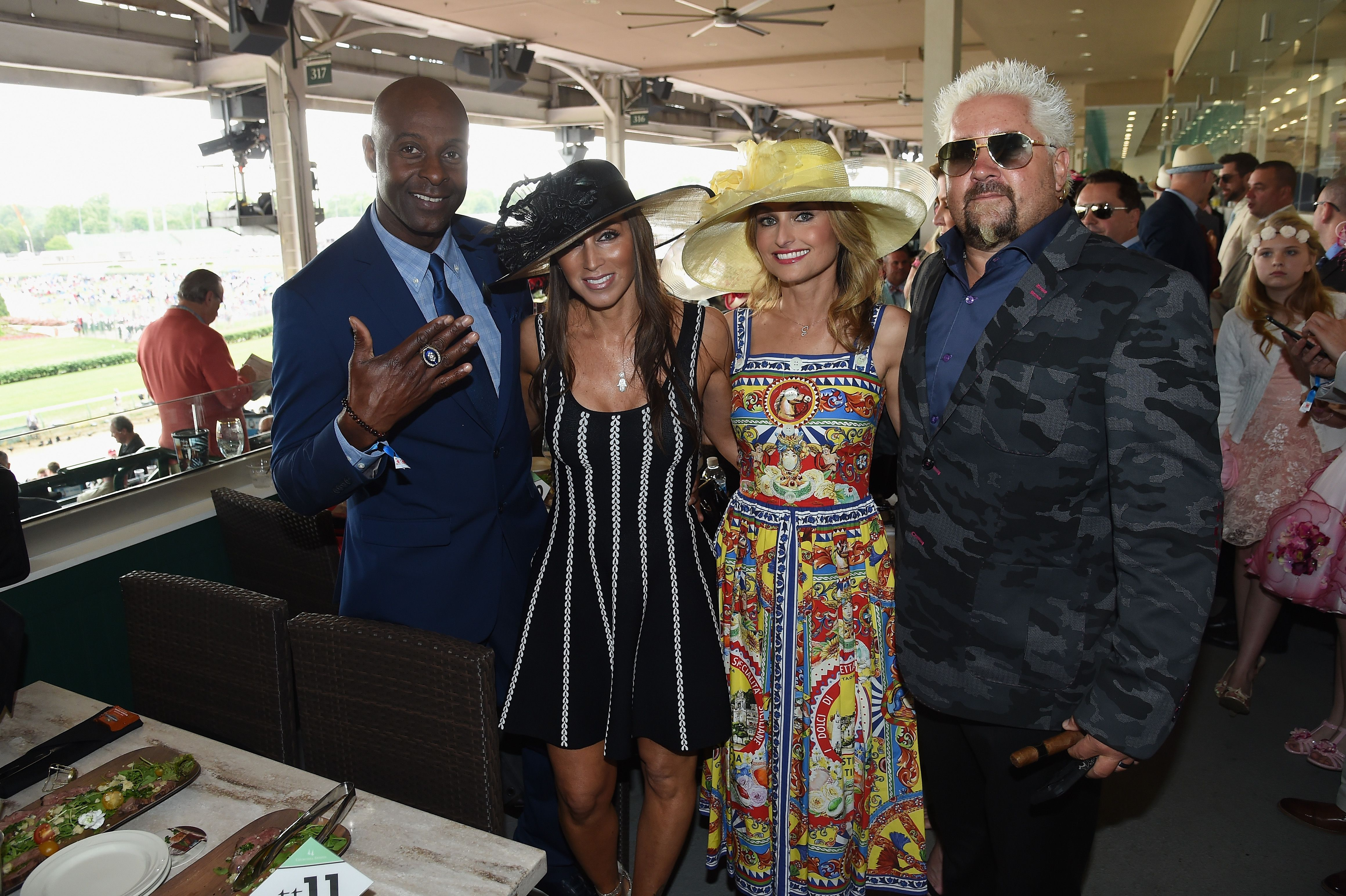 Jerry Rice, Giada De Laurentiis, and Guy Fieri