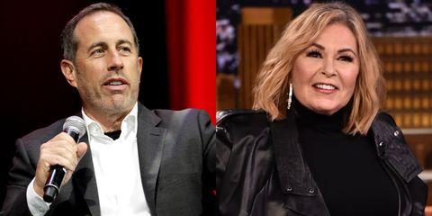 Jerry Seinfeld, Roseanne Barr