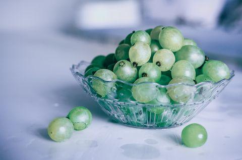 Green, Food, Fruit, Plant, Bowl, Still life, Natural foods, Glass, Seedless fruit, Vegetable,