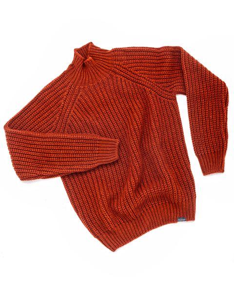 jersey de punto grueso de color terracota de brooksfield