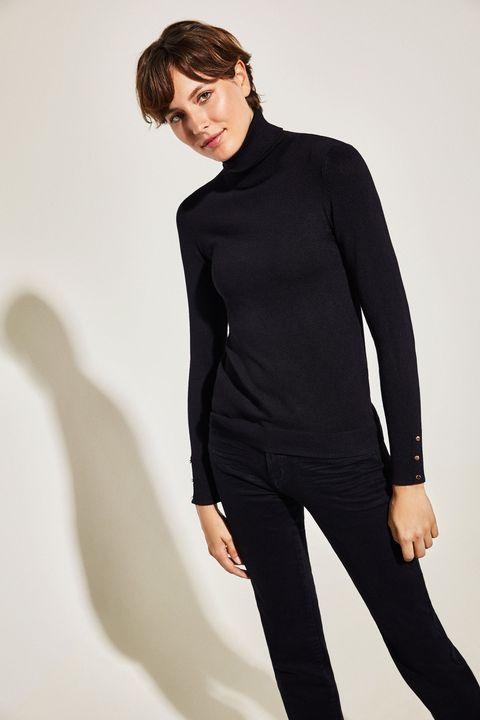jersey negro cuello alto cortefiel