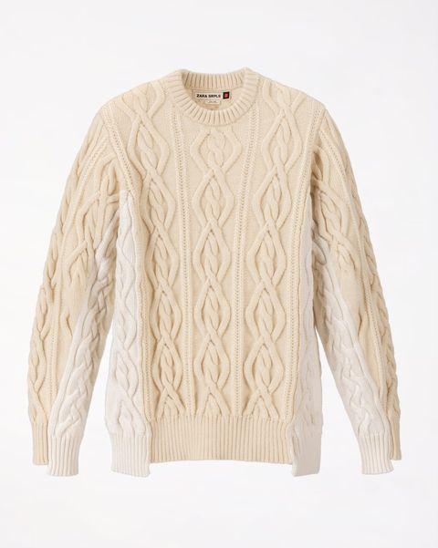 Jersey combinado ochos beige de Zara SRPLS 2019