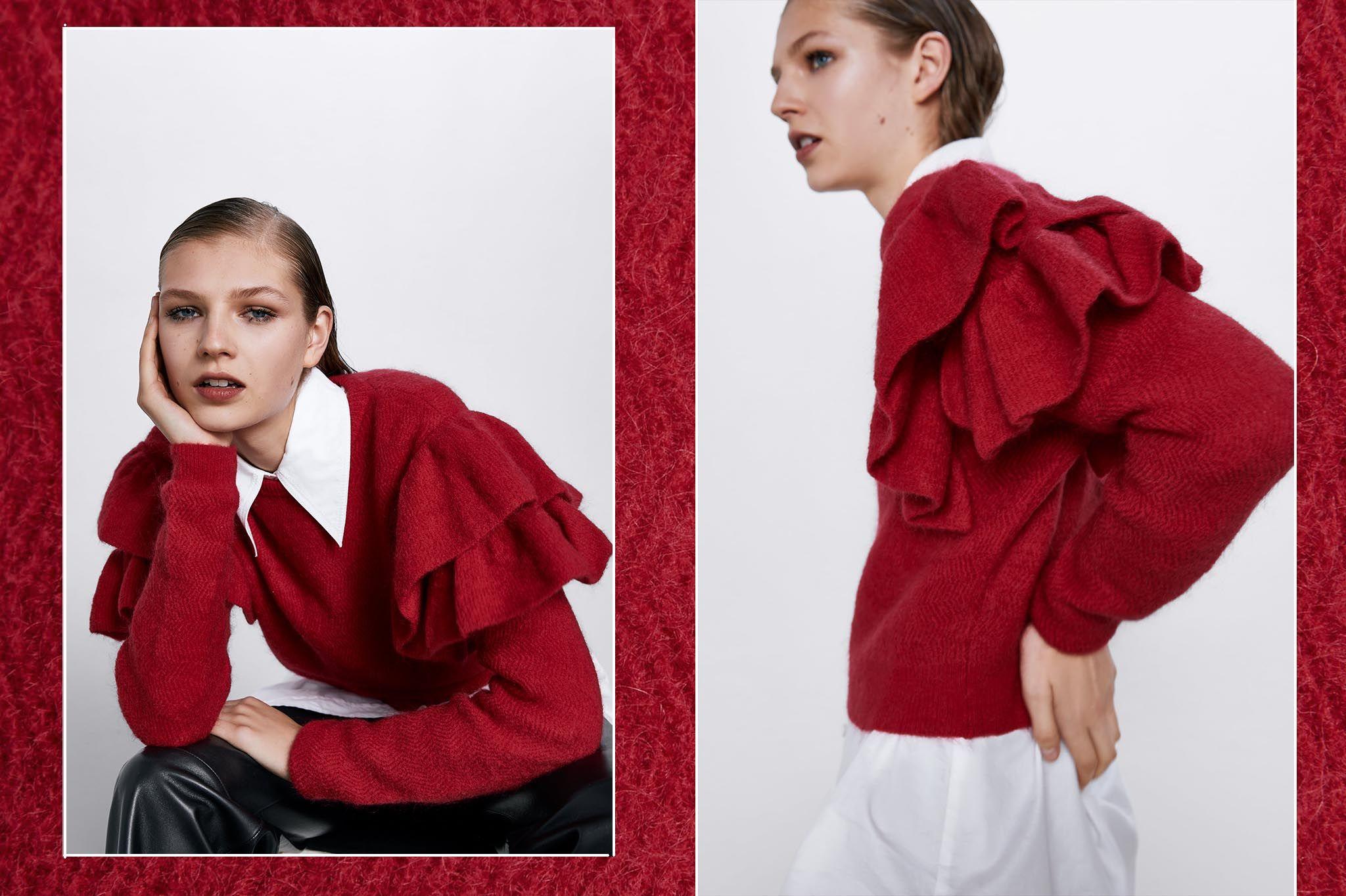 Zara Jersey De Bonito El Volantes Más w8OyvmNn0P
