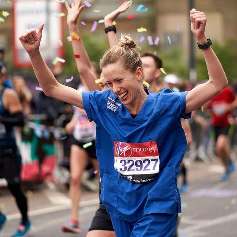 Nurse Jessica Anderson running at the London Marathon 2019 denied world record due to uniform