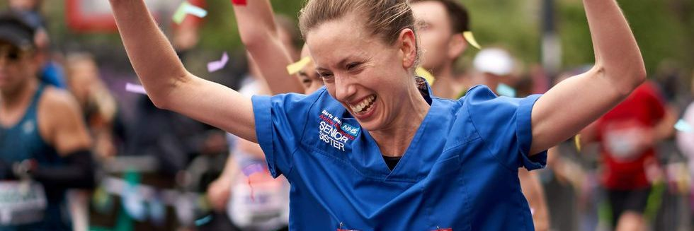 Nurse Jessica Anderson running at the London Marathon 2019 denied world record due to uniform