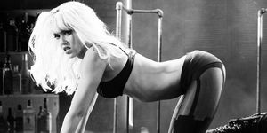 Jessica Alba as a stripper in Sin City