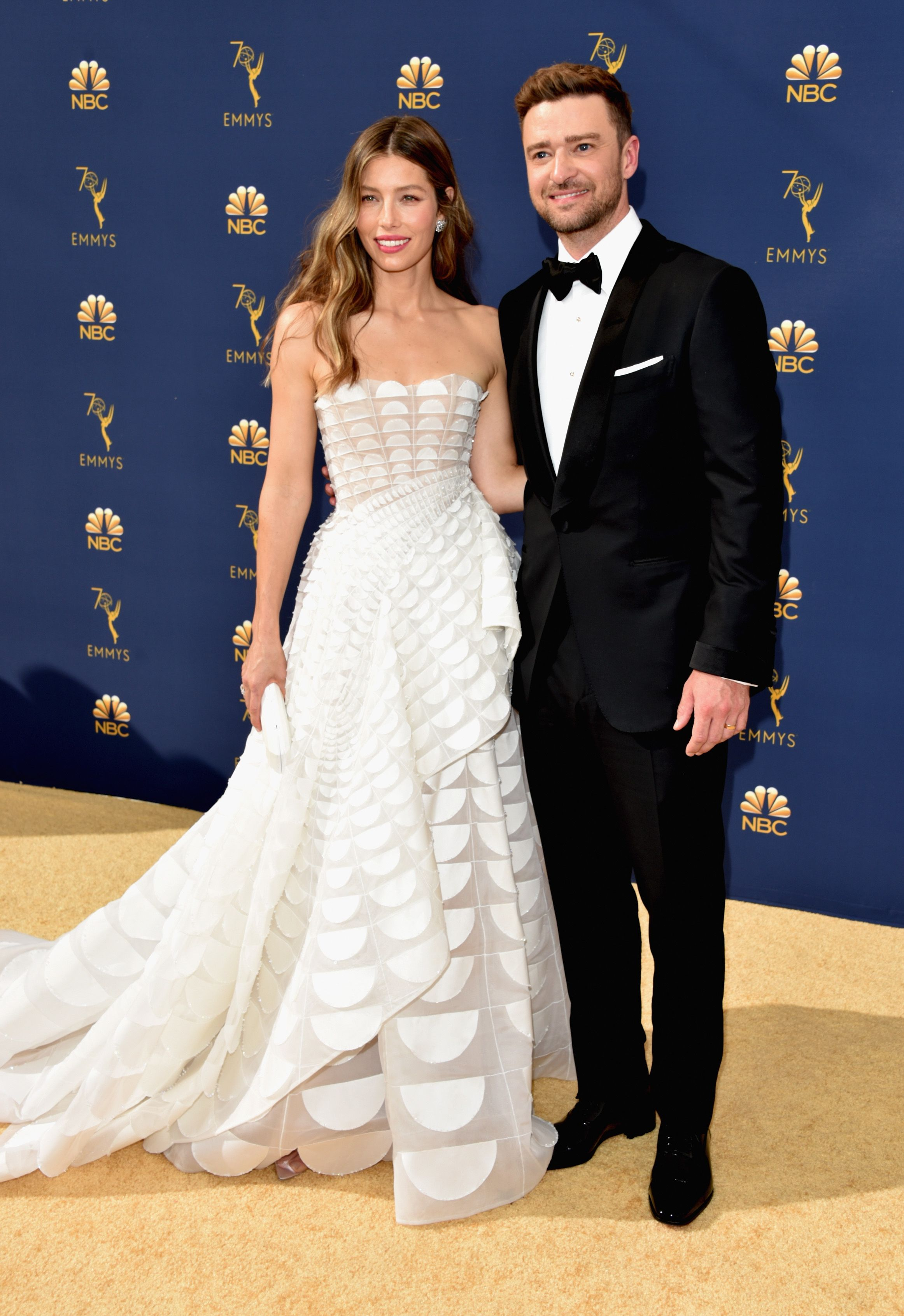 Justin Timberlake and Jessica Bielat the Emmys