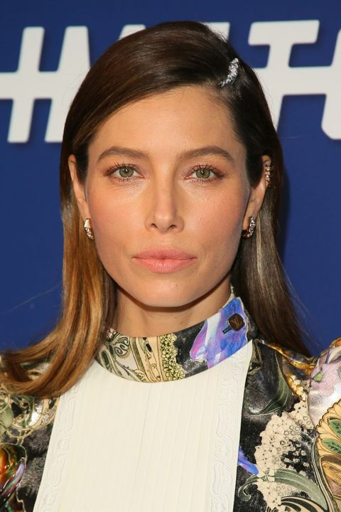 jessica biel ombre hairstyles
