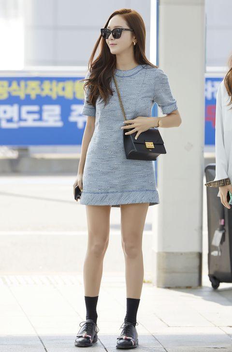 鄭秀妍 (Jessica) 鄭秀晶(Krystal) 穿著FENDI 現身機場