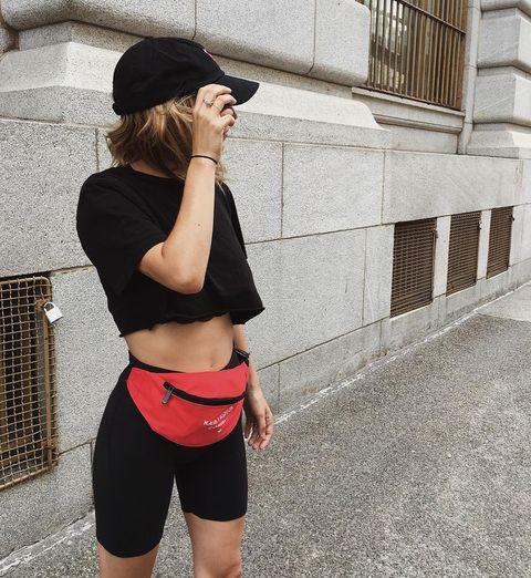 Clothing, Shoulder, Street fashion, Shorts, Waist, Snapshot, Joint, Fashion, Sportswear, Arm,