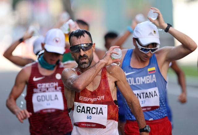 el atleta jesús Ángel garcia bragado en la marcha olímpica de tokio 2020