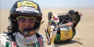 Jesús Calleja en el rally Dakar