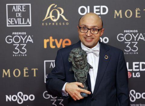 Jesus Vidal holds the Best new actor award for the film '...