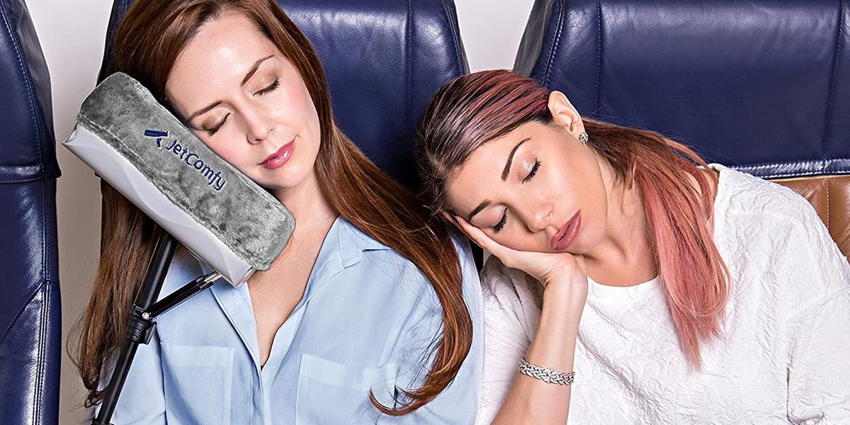 This Memory-Foam Travel Pillow Makes It Not So Bad To Fly In The Middle Seat