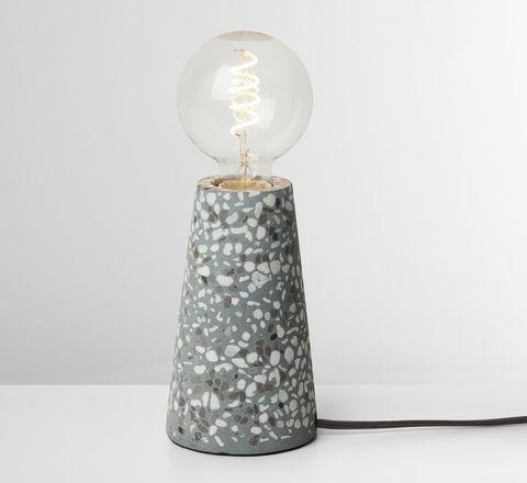 Jett Table Lamp, Grey Terrazzo, MADE.COM